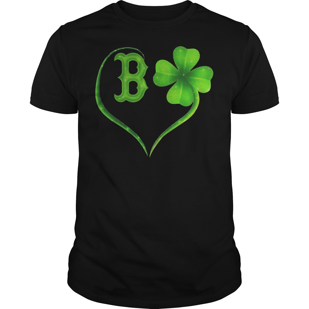 St Patrick's day Boston Red Sox Irish Heart Guys t-shirt