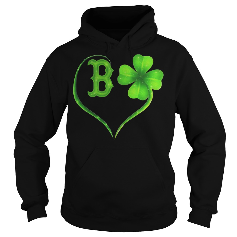 St Patrick's day Boston Red Sox Irish Heart Hoodie
