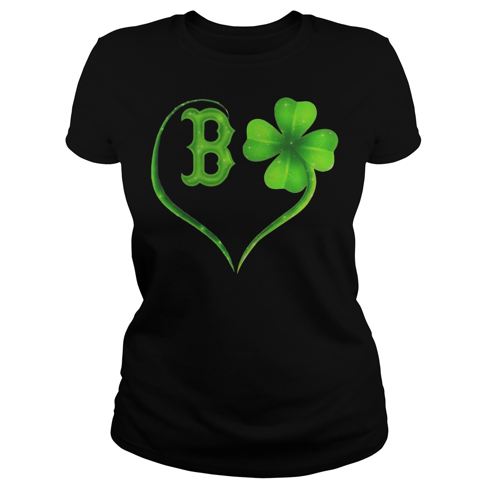 St Patrick's day Boston Red Sox Irish Heart Ladies t-shirt