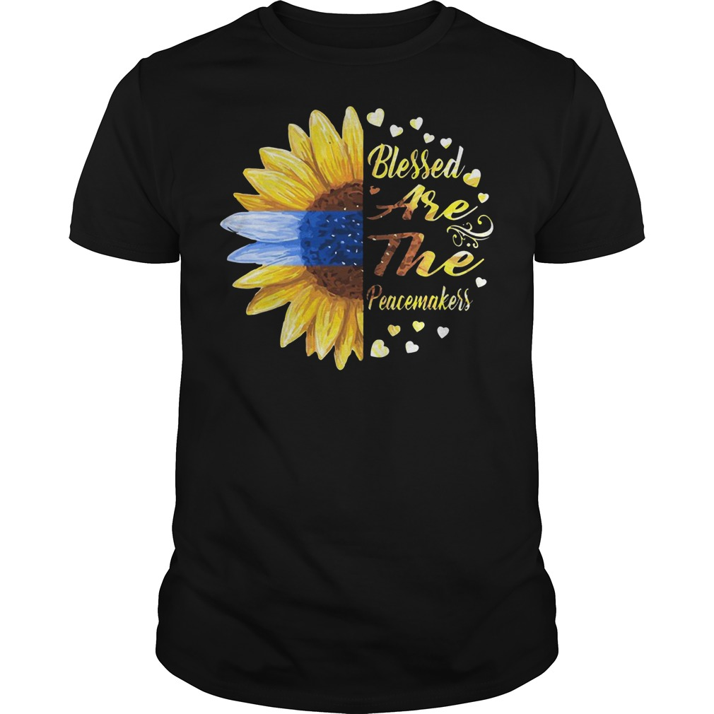 Sunflower blessed are the peacemakers Guys t-shirt