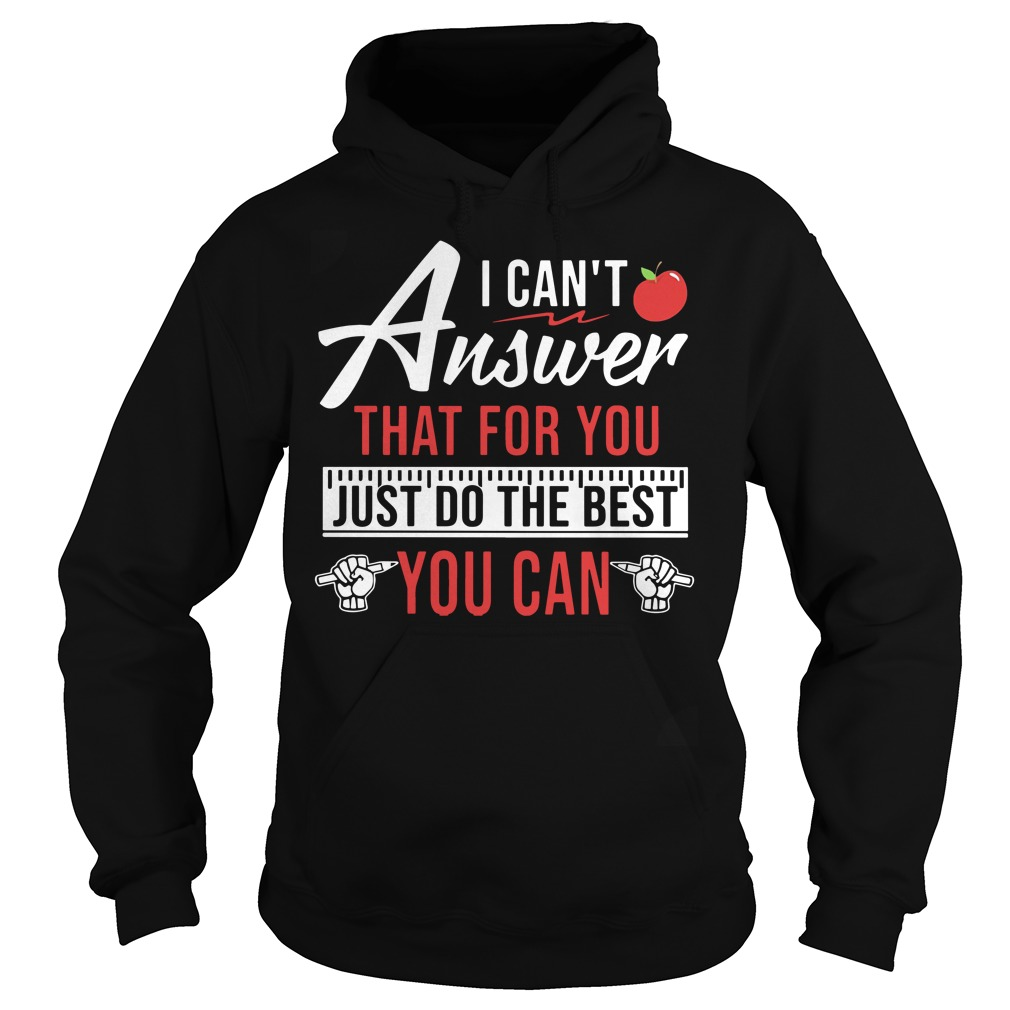 Teaching aids I can't answer that for you just do the best you can Hoodie