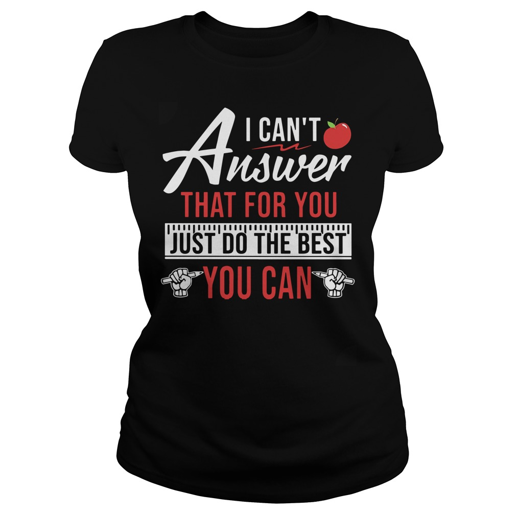 Teaching aids I can't answer that for you just do the best you can Ladies t-shirt