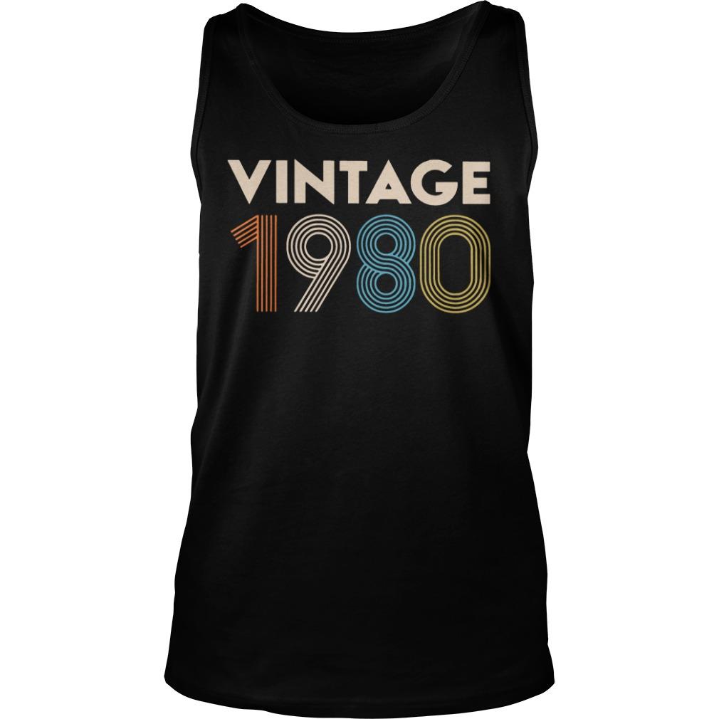 Vintage 1980 Shirt  Hoodie  Tank Top And Sweater