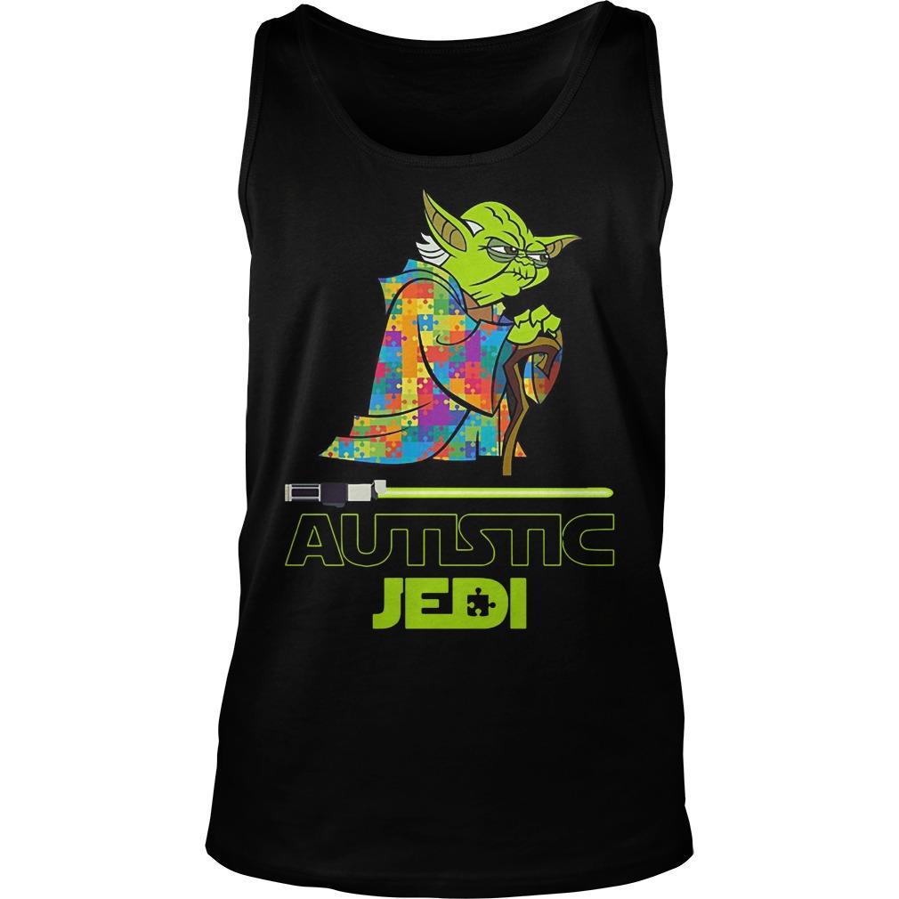 Yoda autism star war autistic jedi Tank top
