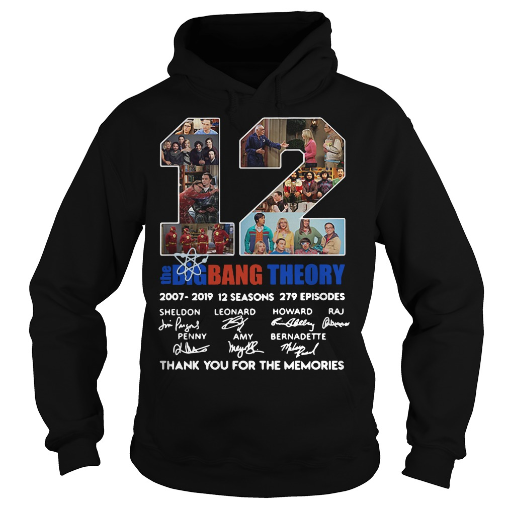 12 Years The Bigbangtheory Thank You For The Memories Hoodie