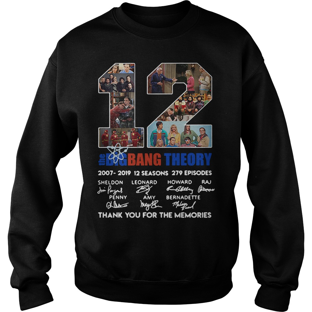 12 Years The Bigbangtheory Thank You For The Memories Sweater