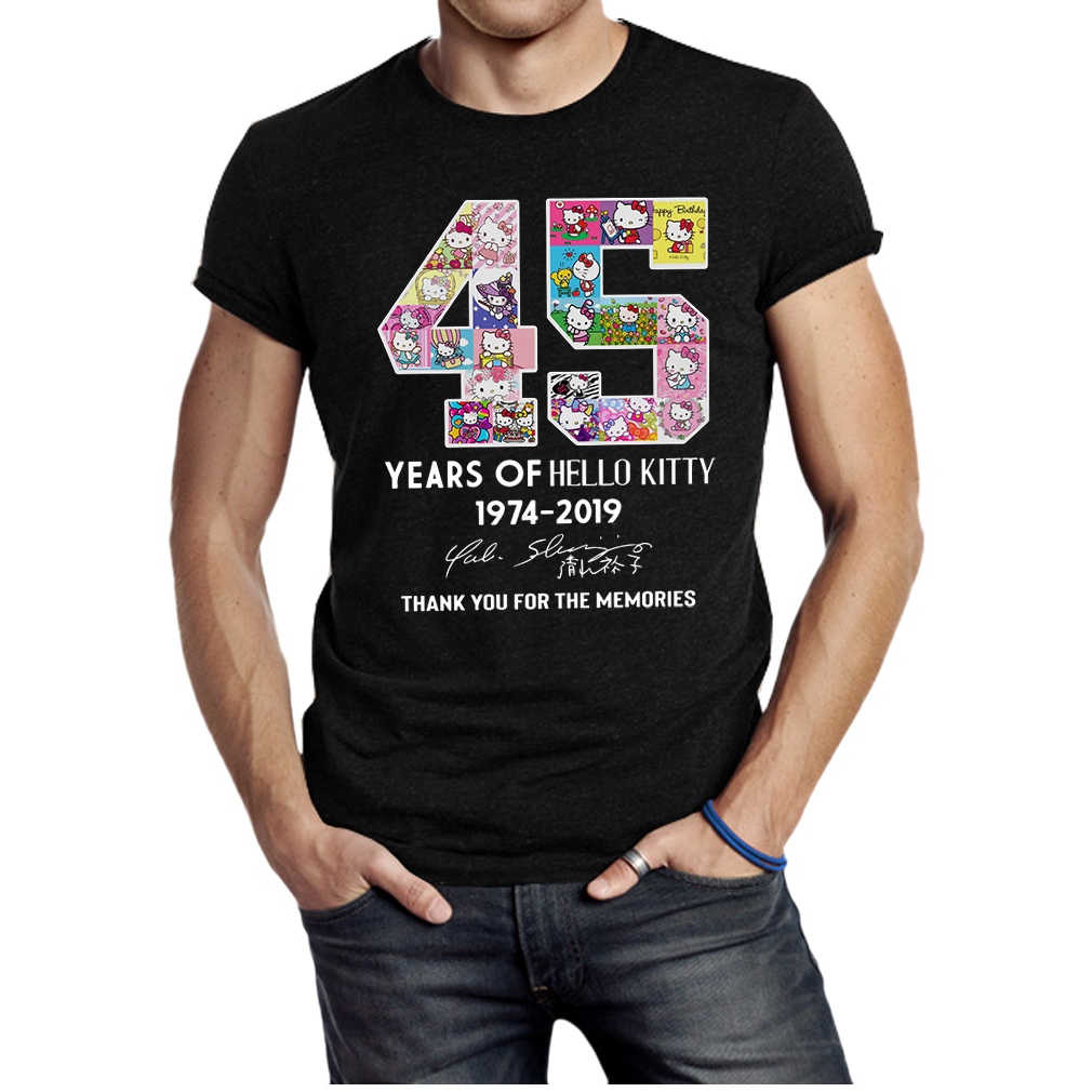 45 years of hello kitty thank you for the memories shirt