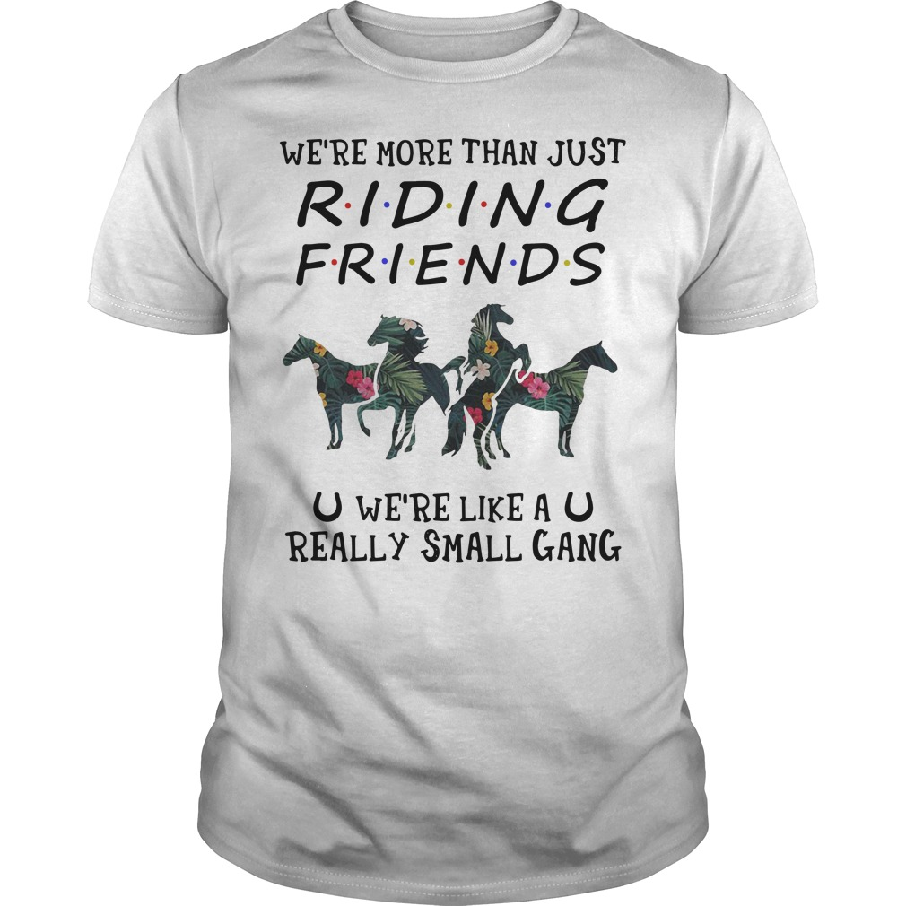 Flower We're more than just riding friends we're like a really small gang Guys t-shirt