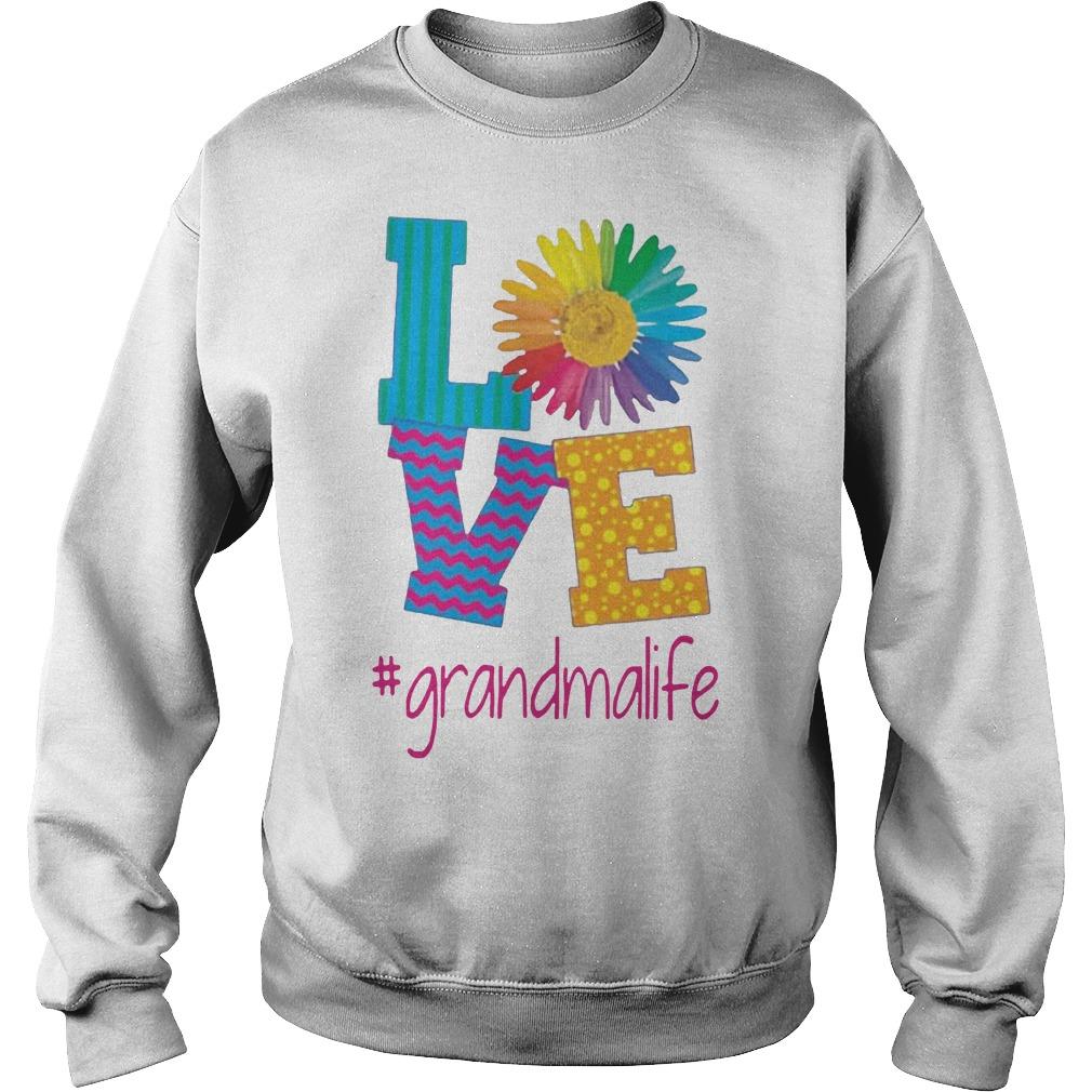 Flower love grandma life Sweater