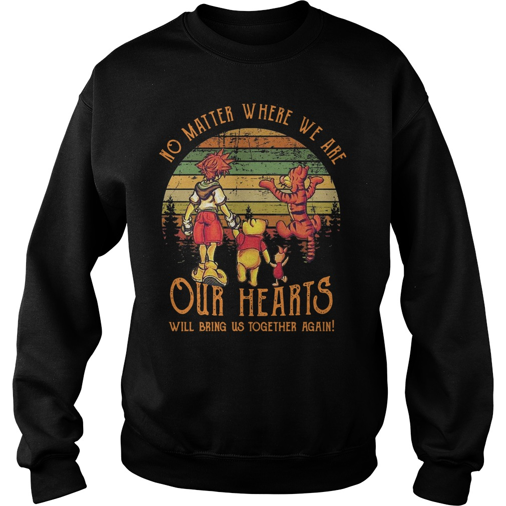 My Friends Tigger & Pooh No matter where we are our hearts sunset Sweater