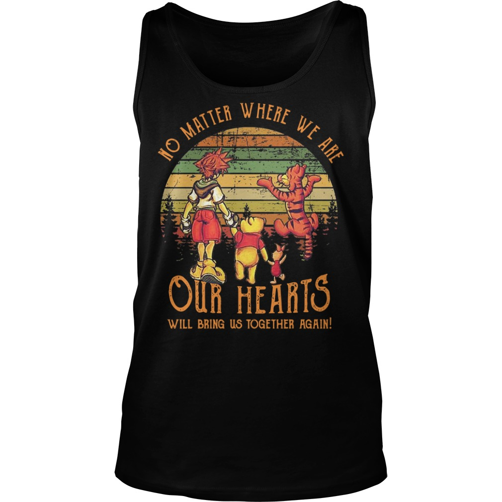 My Friends Tigger & Pooh No matter where we are our hearts sunset Tank top