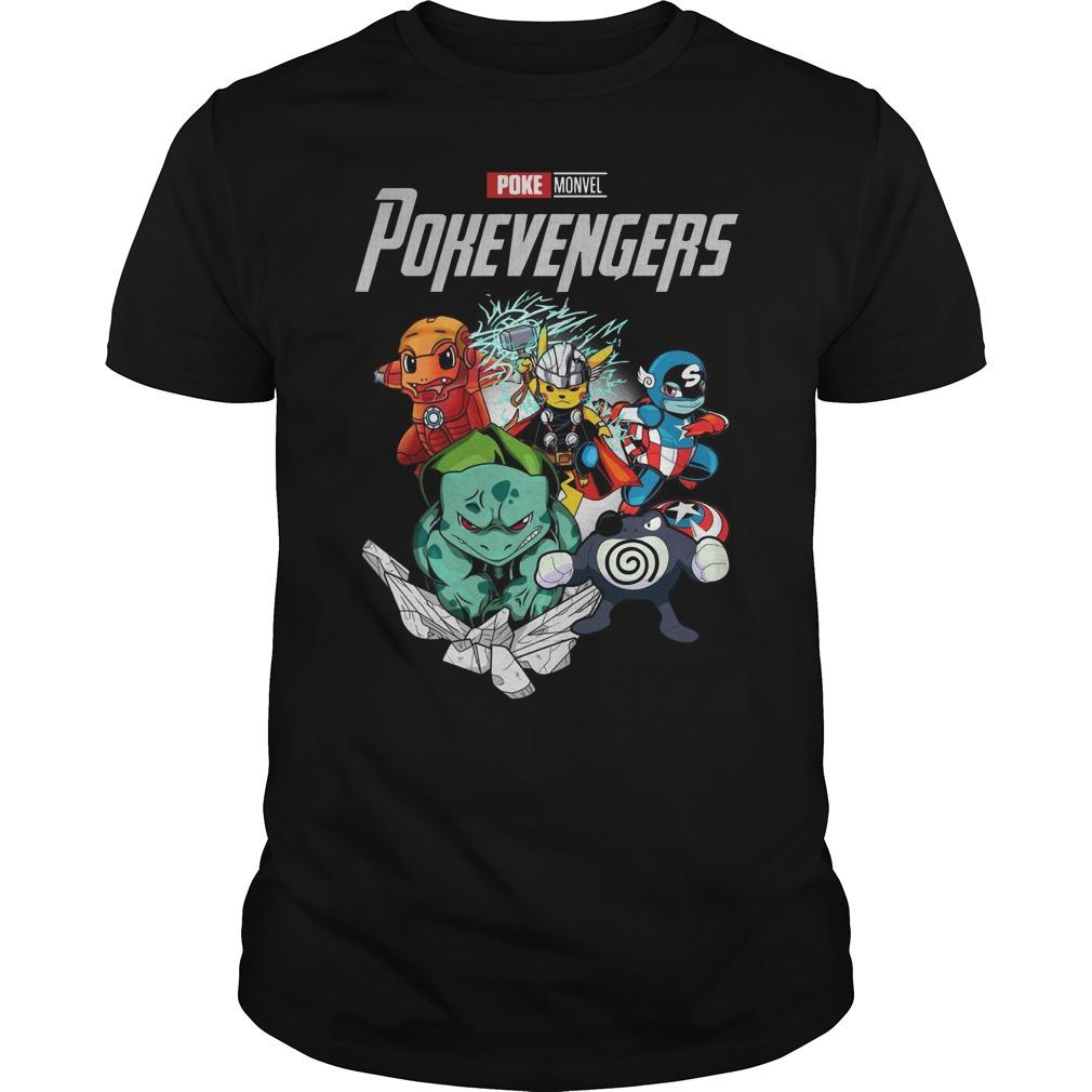 Marvel Avengers Poke Monvel Poke Avengers Guys t-shirt