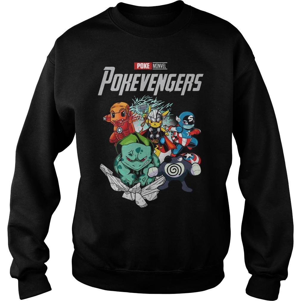 Marvel Avengers Poke Monvel Poke Avengers Sweater
