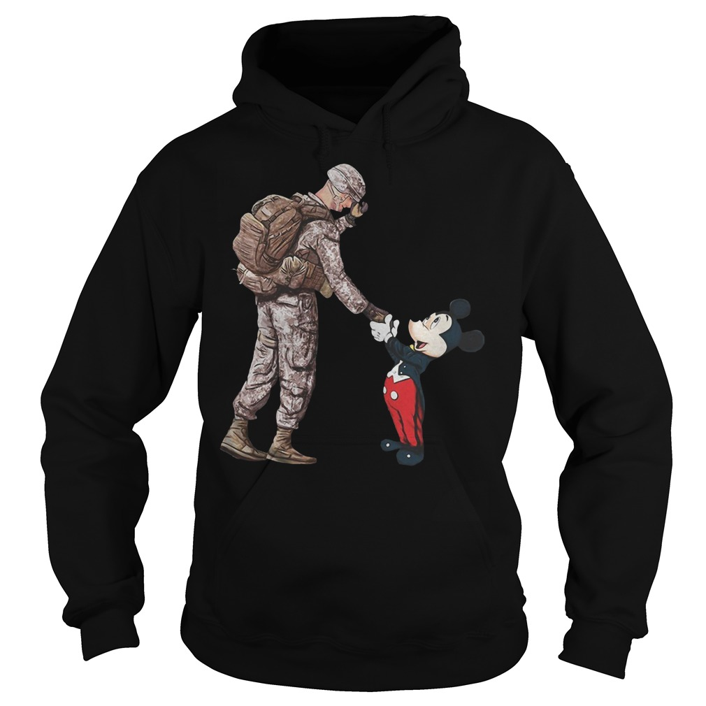 Mickey mouse and veteran soldier Hoodie