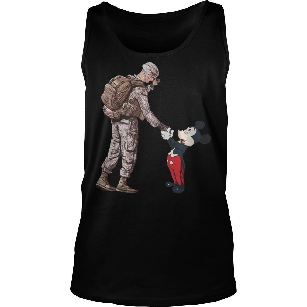 Mickey mouse and veteran soldier Tank top
