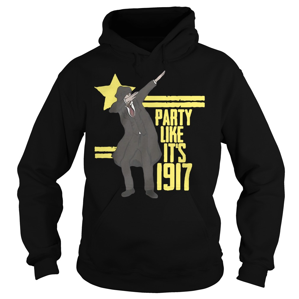 Party like it's 1917 Deep Red Hoodie