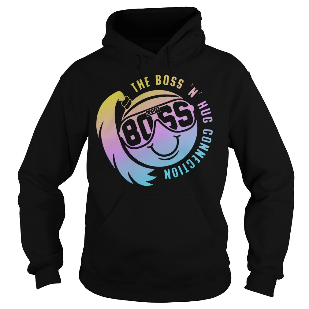 Smiley face the boss n hug connection Hoodie