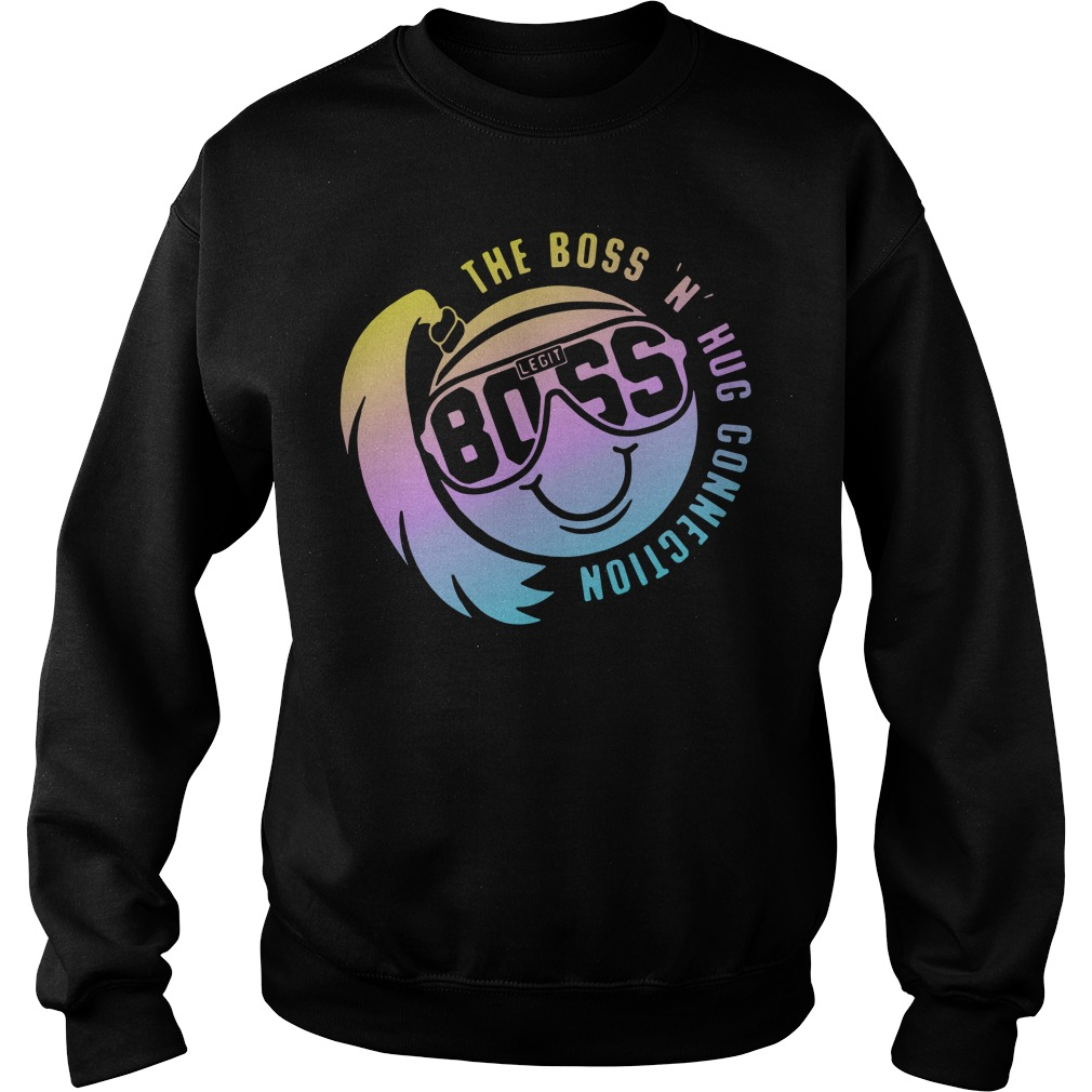 Smiley face the boss n hug connection Sweater