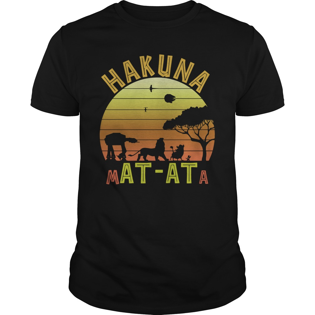 Star War Lion king hakuna matata vintage Guys t-shirt