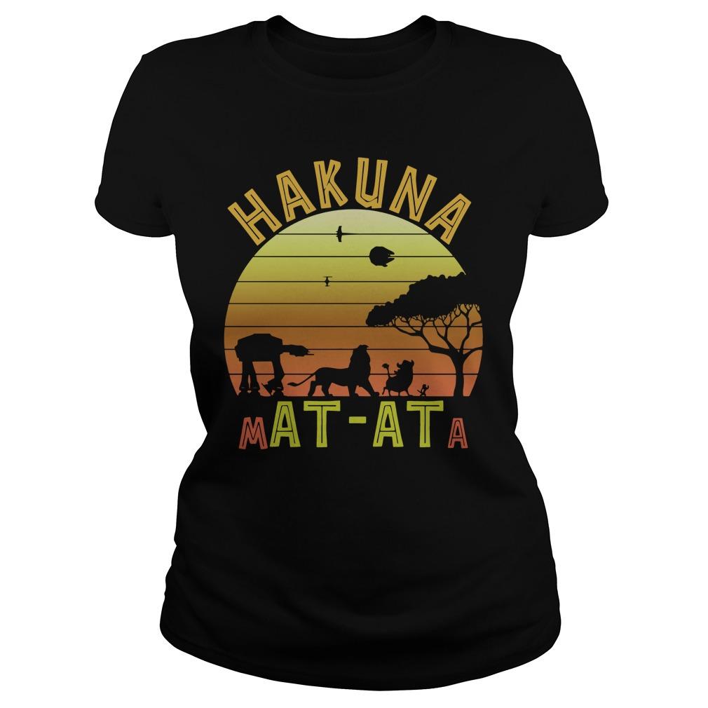Star War Lion king hakuna matata vintage Ladies t-shirt