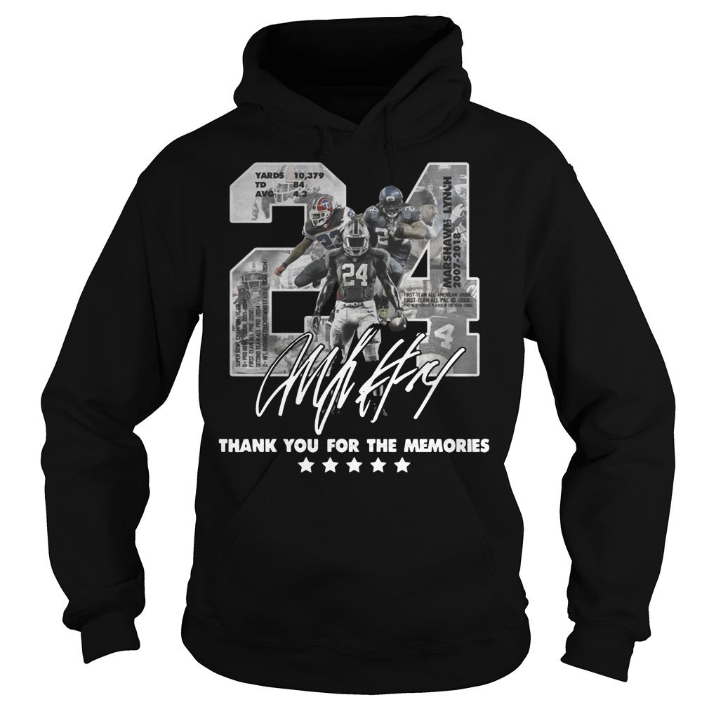 24 Marshawn Lynch thank you for the memories Hoodie