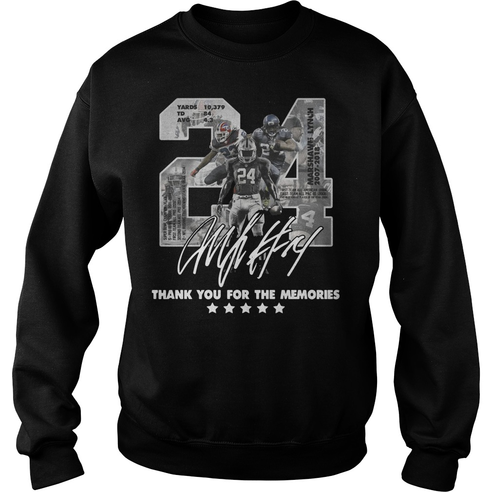 24 Marshawn Lynch thank you for the memories Sweater