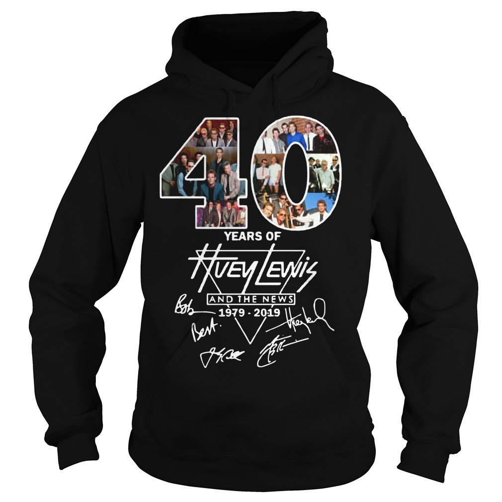 40 years of Huey Lewis and the News signatures Hoodie