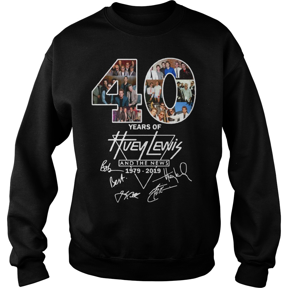 40 years of Huey Lewis and the News signatures Sweater