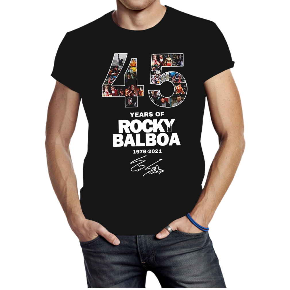 45 years of Rocky Balboa 1976 2021 signature shirt