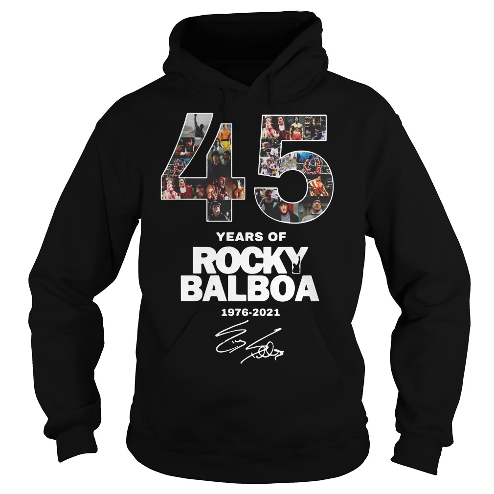 45 years of Rocky Balboa 1976 2021 signature Hoodie