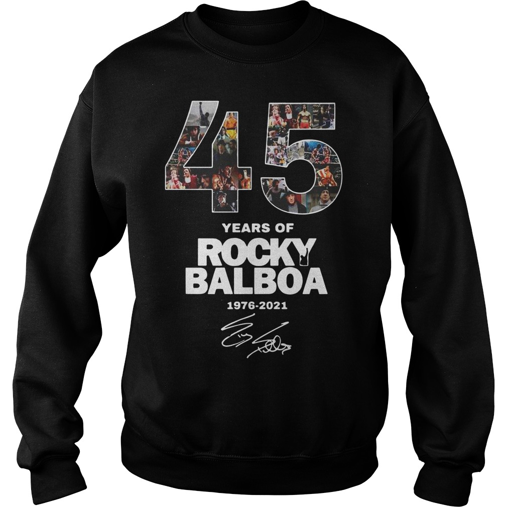 45 years of Rocky Balboa 1976 2021 signature Sweater