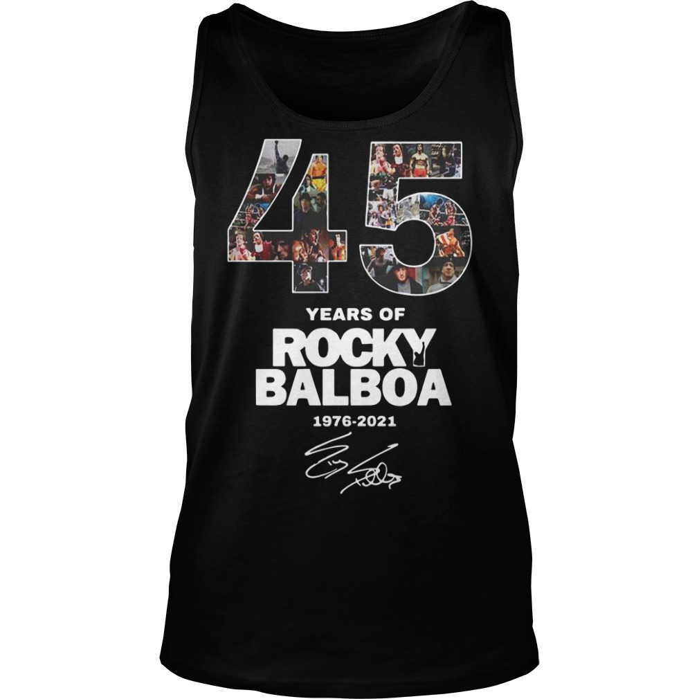 45 years of Rocky Balboa 1976 2021 signature Tank top