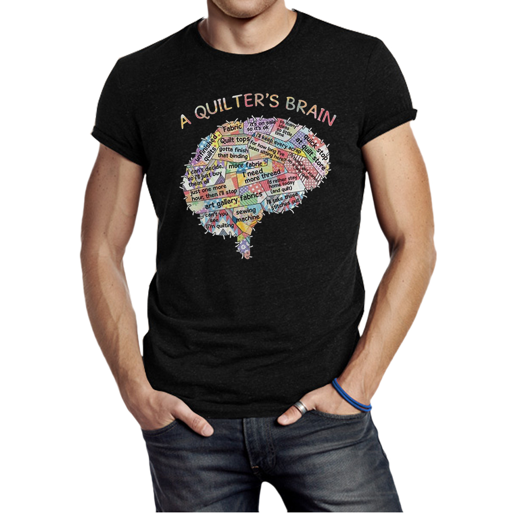 A quilters brain shirt