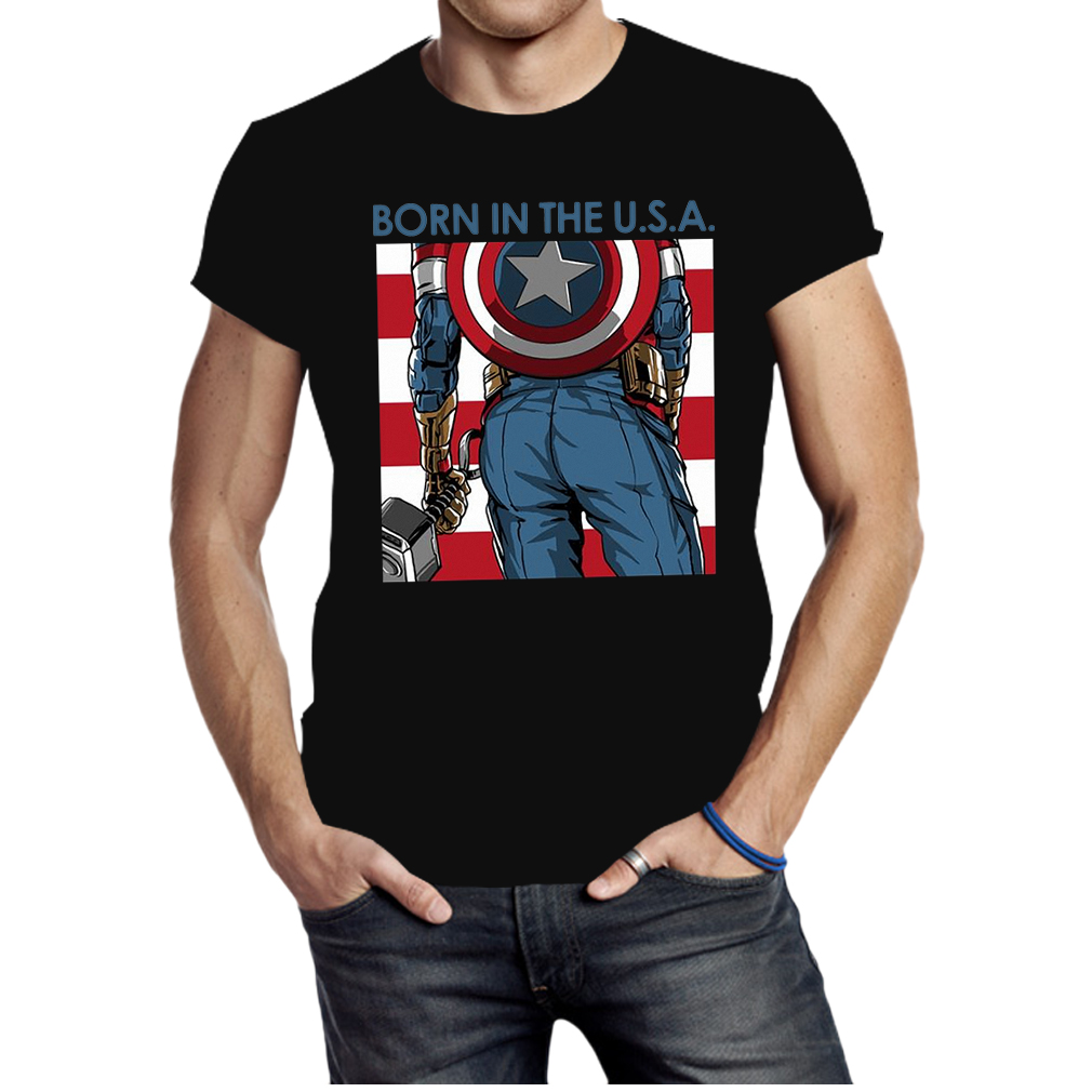 Avengers Captain America born in the USA shirt