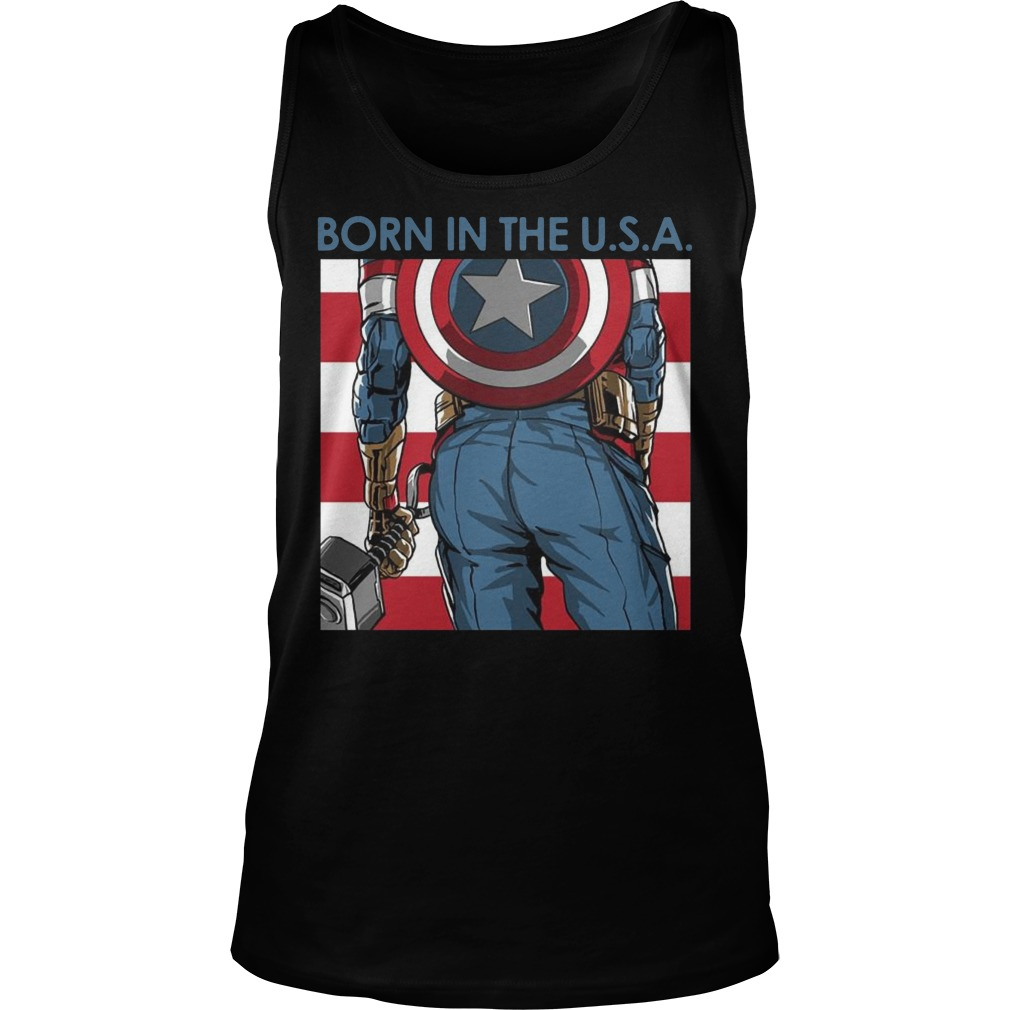 Avengers Captain America born in the USA Tank top
