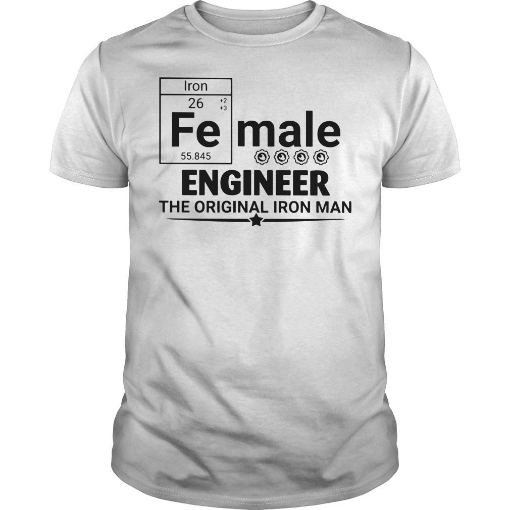 Female engineer the original iron man Guys t-shirt