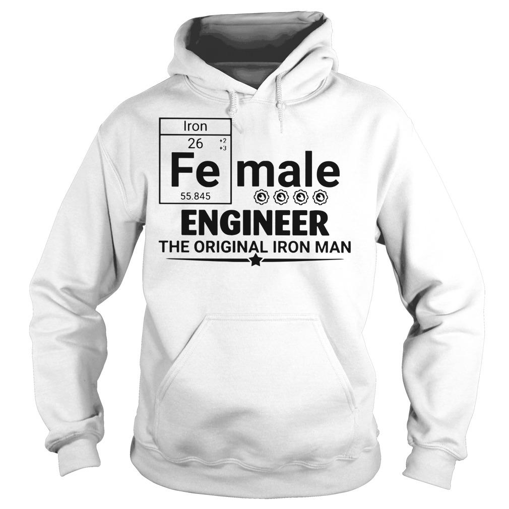 Female engineer the original iron man Hoodie