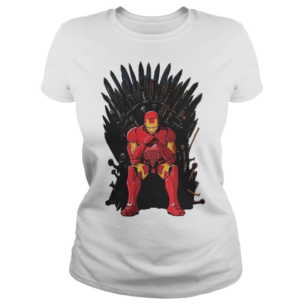 Game Of Thrones I am Iron Man Endgame Ladies t-shirt