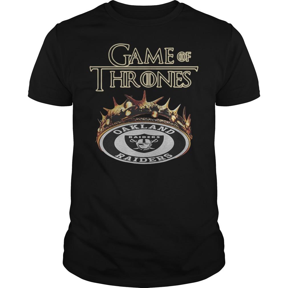 Game of Thrones Oakland Raiders Guys t-shirt