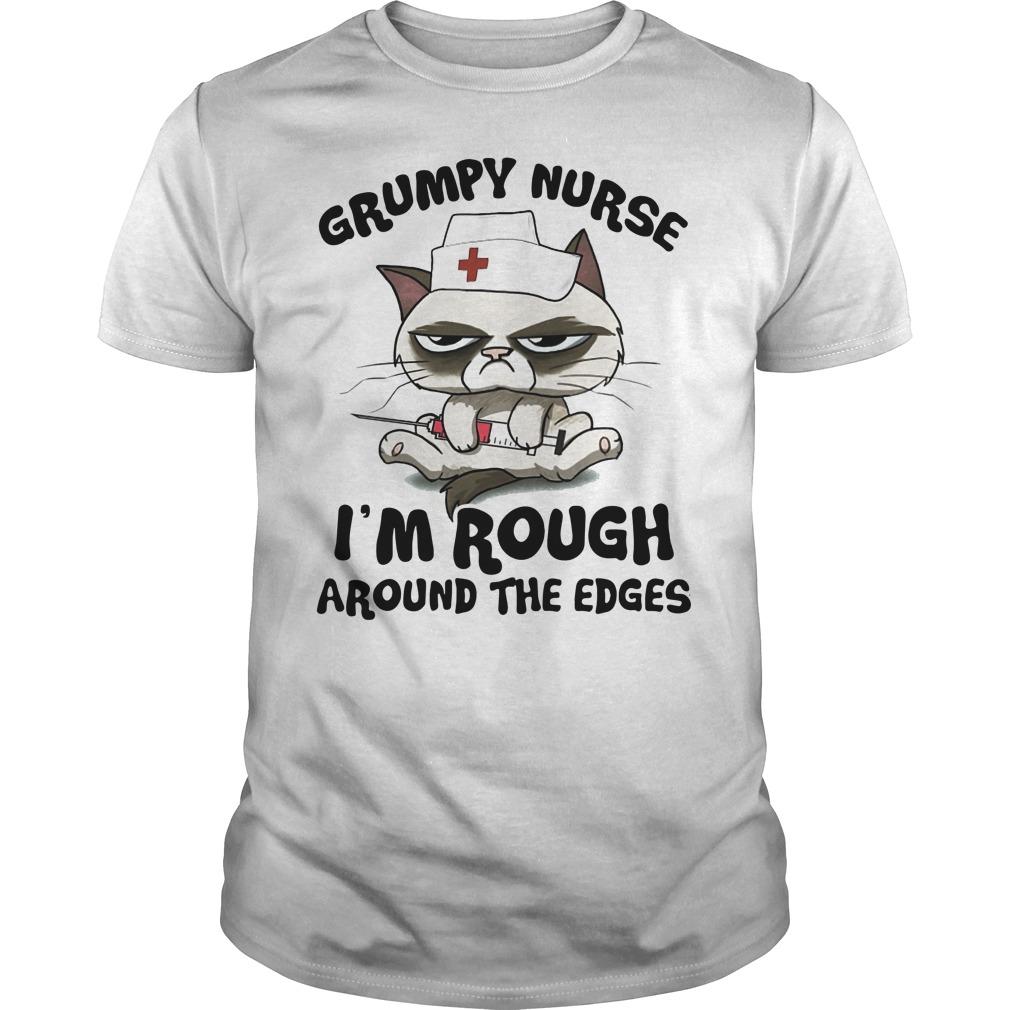 Grumpy nurse I'm rough around the edges Guys t-shirt
