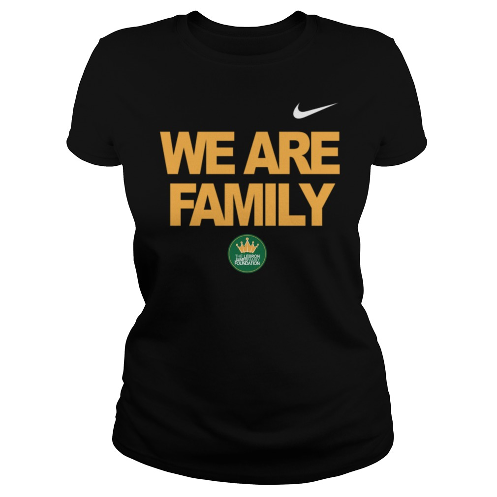 Lebron James we are family Ladies t-shirt