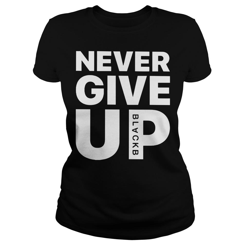 Mohamed Salah Never Give Up Ladies t-shirt