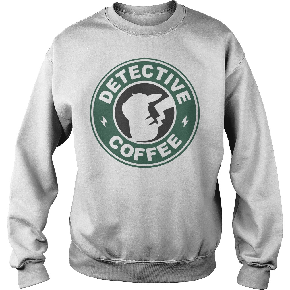 Pikachu Starbucks detective coffee Sweater
