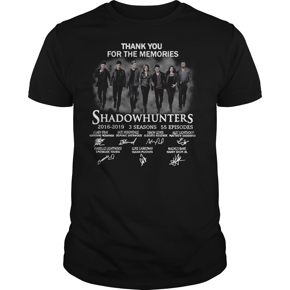 Thank you for the memories shadowhunters Guys t-shirt