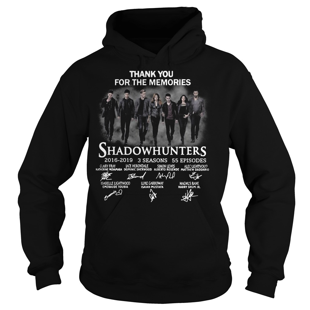 Thank you for the memories shadowhunters Hoodie