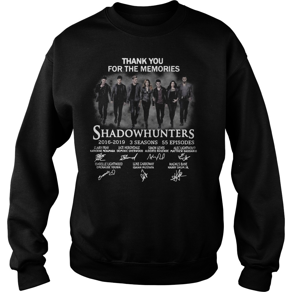 Thank you for the memories shadowhunters Sweater