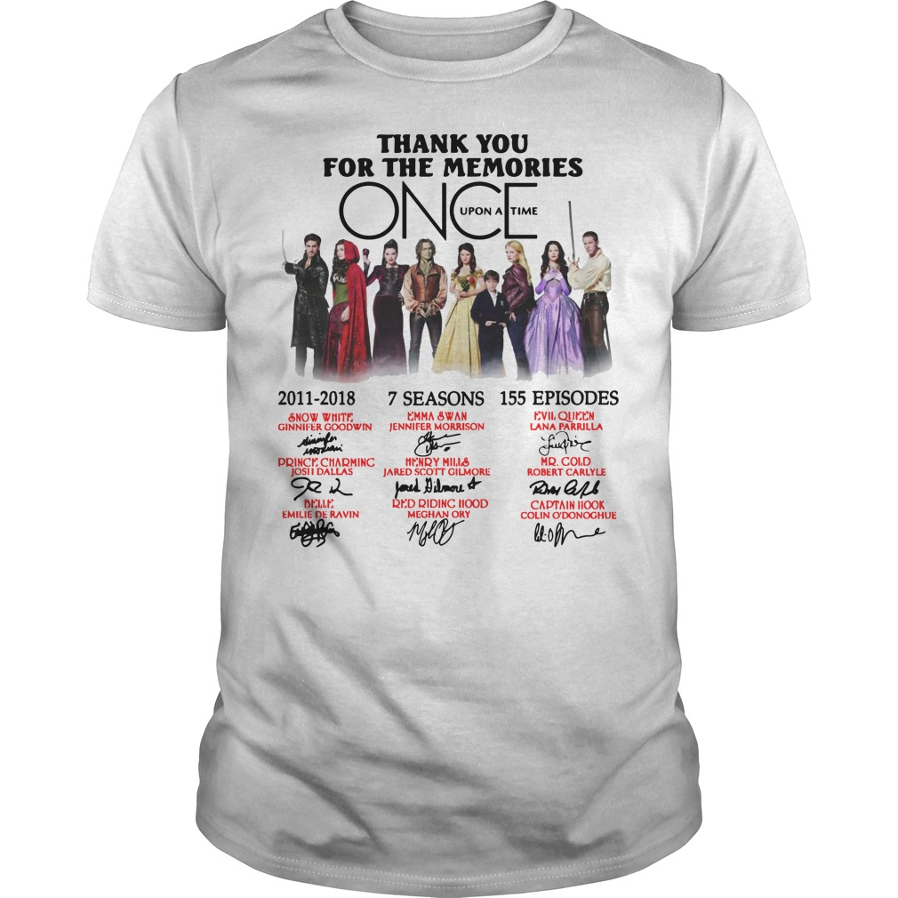 Thank you for the memories Once Upon a Time Guys t-shirt