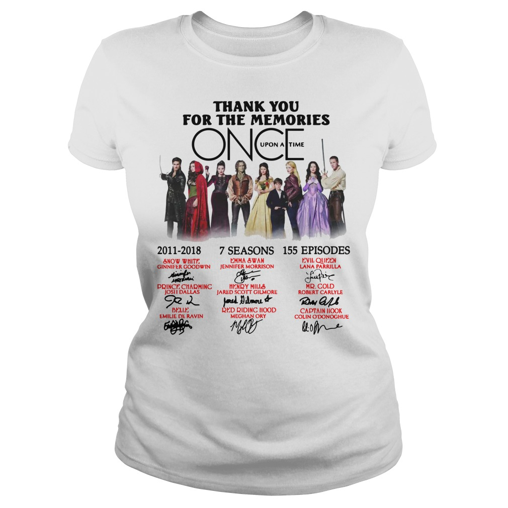 Thank you for the memories Once Upon a Time Ladies t-shirt