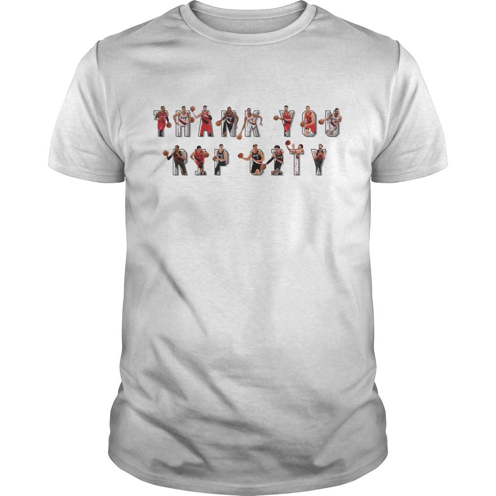 Thank You RIP City Shirt Trail Blazers Guys t-shirt