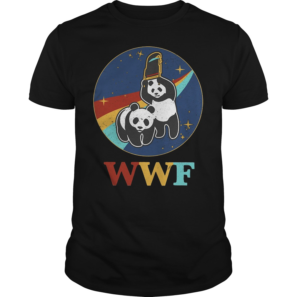 WWF panda wrestling save the panda Guys t-shirt
